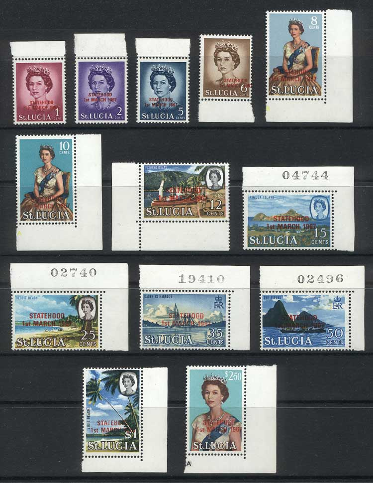 Lot 1355 - saint lucia general issues -  Guillermo Jalil - Philatino Auction # 2024 WORLDWIDE - ARGENTINA: Special June auction