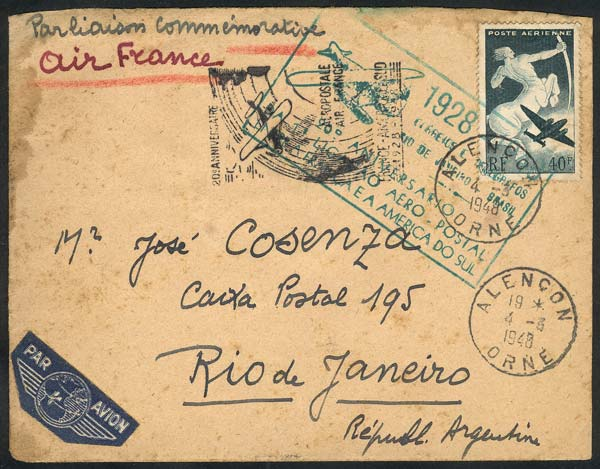 Lot 992 - France postal history -  Guillermo Jalil - Philatino Auction # 2024 WORLDWIDE - ARGENTINA: Special June auction