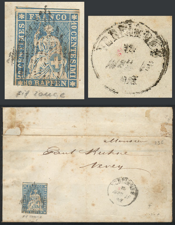 Lot 1384 - Switzerland postal history -  Guillermo Jalil - Philatino Auction # 2024 WORLDWIDE - ARGENTINA: Special June auction