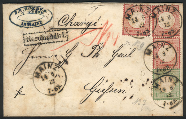 Lot 24 - germany postal history -  Guillermo Jalil - Philatino Auction # 2024 WORLDWIDE - ARGENTINA: Special June auction