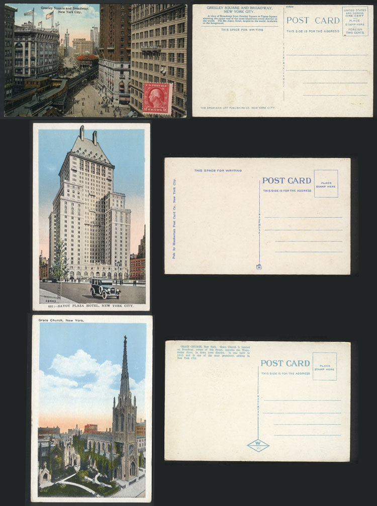 Lot 1141 - united states postcards -  Guillermo Jalil - Philatino Auction # 2022 WORLDWIDE + ARGENTINA: Postcards, autographs, brochures and more!