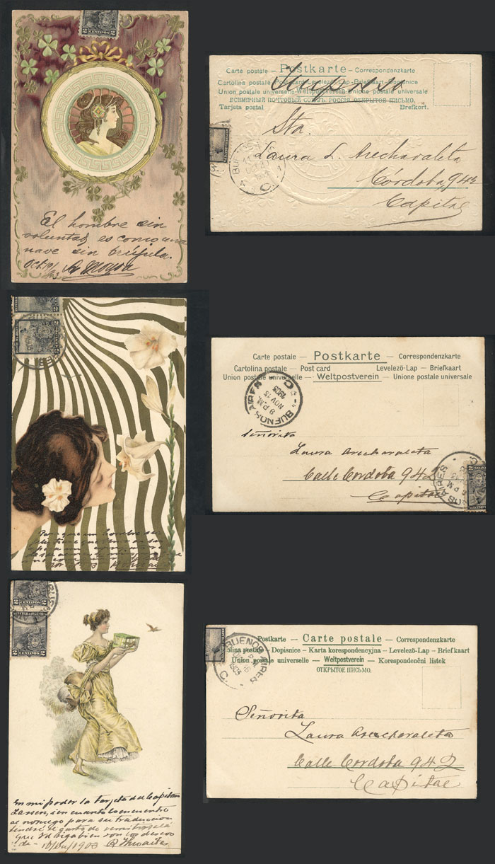 Lot 1817 - worldwide postcards -  Guillermo Jalil - Philatino Auction # 2022 WORLDWIDE + ARGENTINA: Postcards, autographs, brochures and more!
