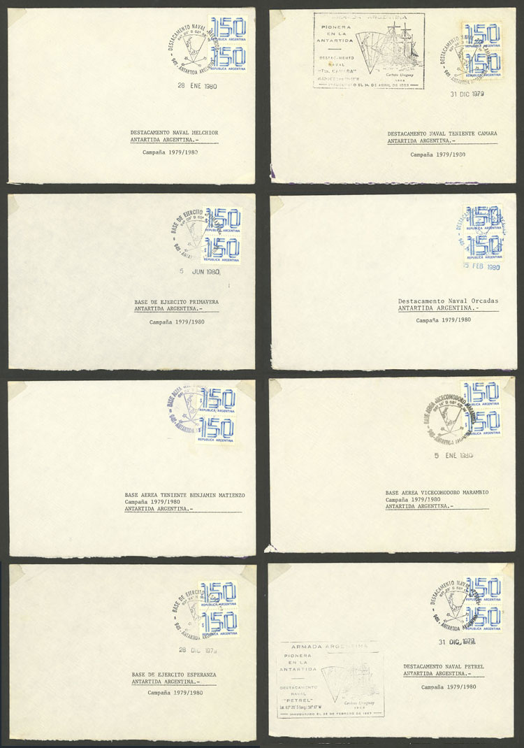 Lot 5 - argentine antarctica postal history -  Guillermo Jalil - Philatino Auction # 2023 ARGENTINA: