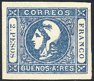 Lot 11 - Argentina cabecitas -  Guillermo Jalil - Philatino Auction # 2023 ARGENTINA: