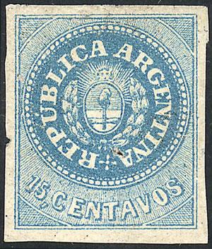 Lot 36 - Argentina escuditos -  Guillermo Jalil - Philatino Auction # 2023 ARGENTINA: