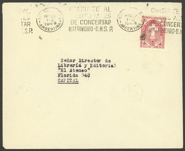 Lot 1272 - Argentina postal history -  Guillermo Jalil - Philatino Auction # 2023 ARGENTINA: