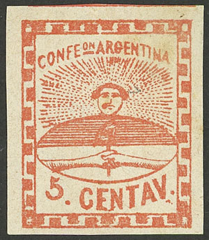 Lot 17 - Argentina confederation -  Guillermo Jalil - Philatino Auction # 2023 ARGENTINA: