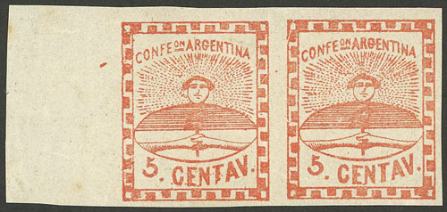 Lot 19 - Argentina confederation -  Guillermo Jalil - Philatino Auction # 2023 ARGENTINA: