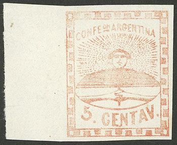 Lot 20 - Argentina confederation -  Guillermo Jalil - Philatino Auction # 2023 ARGENTINA: