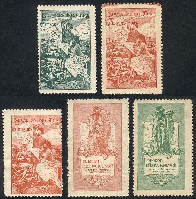 Lot 1395 - Argentina cinderellas -  Guillermo Jalil - Philatino Auction # 2023 ARGENTINA: