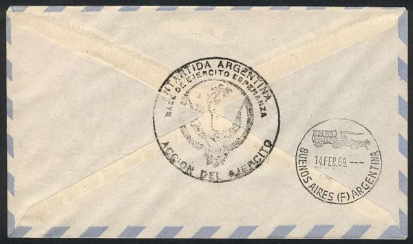 Lot 4 - argentine antarctica postal history -  Guillermo Jalil - Philatino Auction # 2023 ARGENTINA: