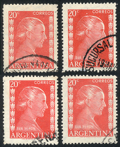 Lot 526 - Argentina general issues -  Guillermo Jalil - Philatino Auction # 2023 ARGENTINA: