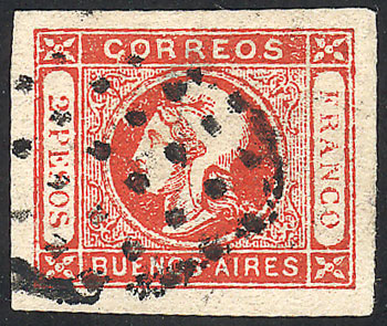 Lot 12 - Argentina cabecitas -  Guillermo Jalil - Philatino Auction # 2027 ARGENTINA: Special July auction