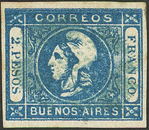 Lot 14 - Argentina cabecitas -  Guillermo Jalil - Philatino Auction # 2027 ARGENTINA: Special July auction
