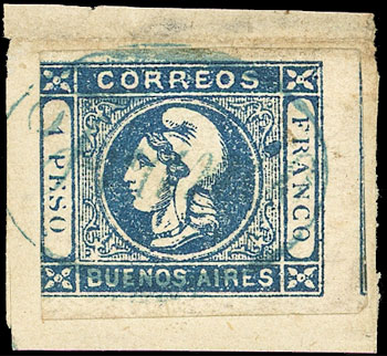 Lot 9 - Argentina cabecitas -  Guillermo Jalil - Philatino Auction # 2027 ARGENTINA: Special July auction