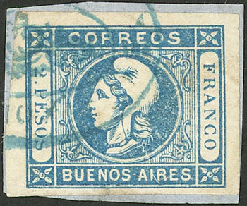 Lot 13 - Argentina cabecitas -  Guillermo Jalil - Philatino Auction # 2027 ARGENTINA: Special July auction