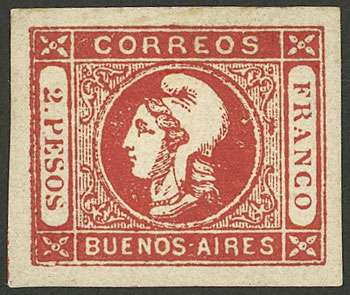 Lot 6 - Argentina cabecitas -  Guillermo Jalil - Philatino Auction # 2027 ARGENTINA: Special July auction