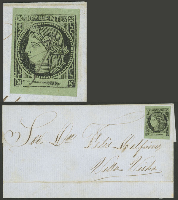 Lot 19 - Argentina corrientes -  Guillermo Jalil - Philatino Auction # 2027 ARGENTINA: Special July auction