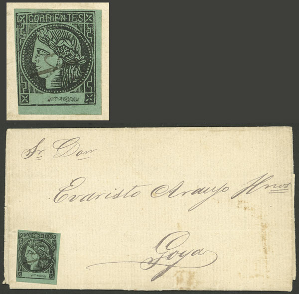 Lot 21 - Argentina corrientes -  Guillermo Jalil - Philatino Auction # 2027 ARGENTINA: Special July auction