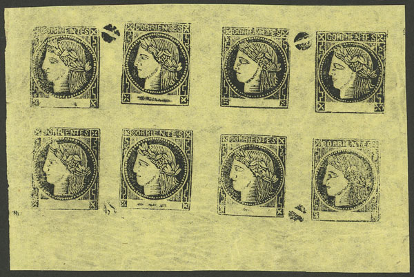 Lot 22 - Argentina corrientes -  Guillermo Jalil - Philatino Auction # 2027 ARGENTINA: Special July auction