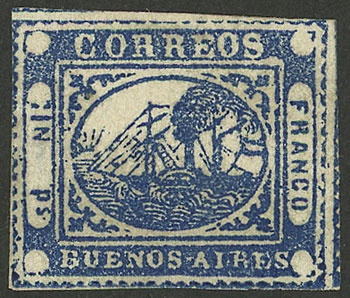 Lot 5 - Argentina barquitos -  Guillermo Jalil - Philatino Auction # 2027 ARGENTINA: Special July auction