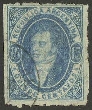 Lot 78 - Argentina rivadavias -  Guillermo Jalil - Philatino Auction # 2030 ARGENTINA: