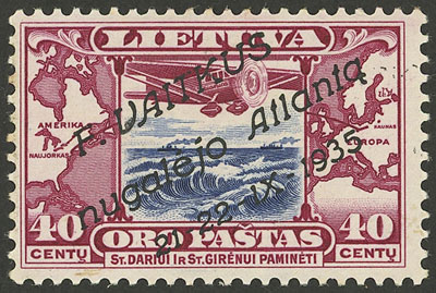 Lot 1276 - Lithuania airmail -  Guillermo Jalil - Philatino Auction # 2031 WORLDWIDE + ARGENTINA: General July auction