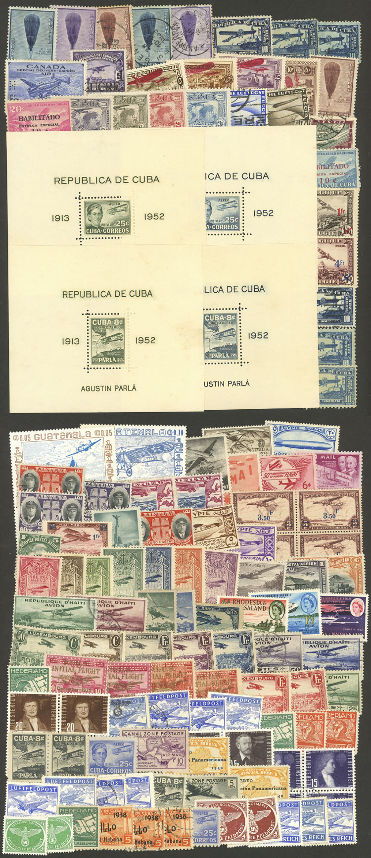 Lot 4 - topic aviation Lots and Collections -  Guillermo Jalil - Philatino Auction # 2031 WORLDWIDE + ARGENTINA: General July auction