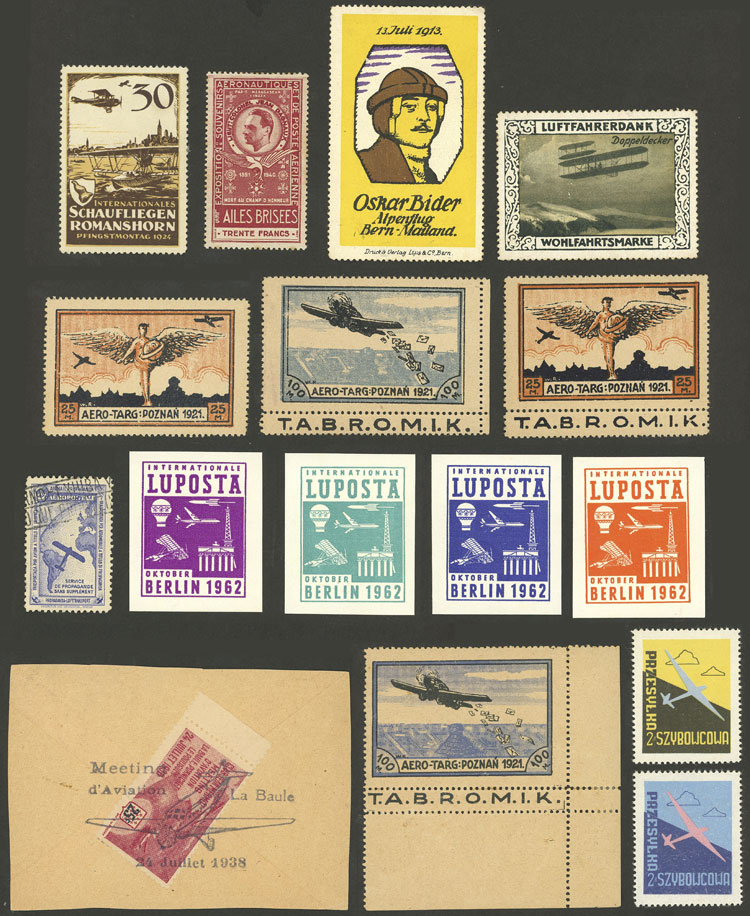 Lot 5 - topic aviation cinderellas -  Guillermo Jalil - Philatino Auction # 2031 WORLDWIDE + ARGENTINA: General July auction