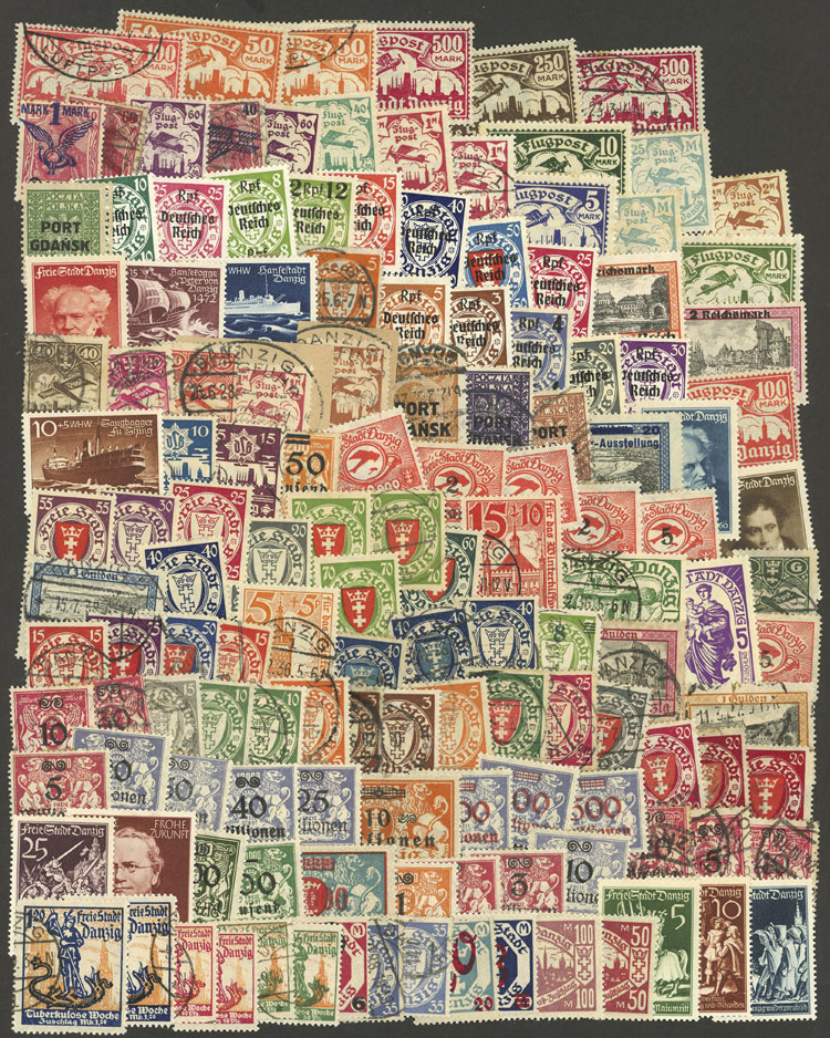 Lot 89 - germany - danzig Lots and Collections -  Guillermo Jalil - Philatino Auction # 2031 WORLDWIDE + ARGENTINA: General July auction