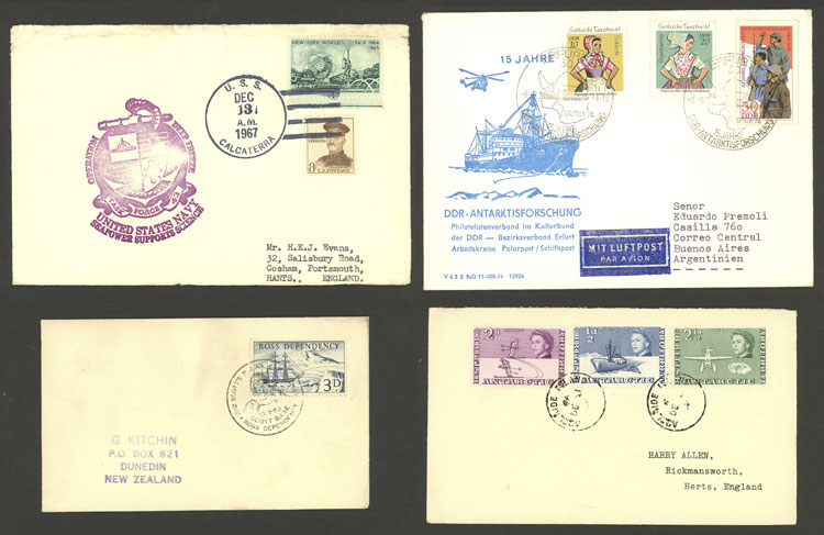 Lot 129 - antarctica postal history -  Guillermo Jalil - Philatino Auction # 2031 WORLDWIDE + ARGENTINA: General July auction