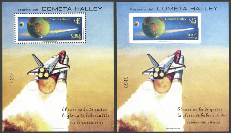 Lot 740 - Chile souvenir sheets -  Guillermo Jalil - Philatino Auction # 2031 WORLDWIDE + ARGENTINA: General July auction