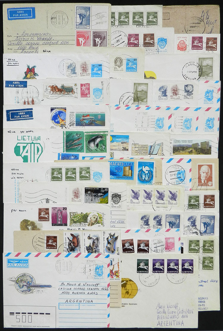 Lot 1278 - Lithuania postal history -  Guillermo Jalil - Philatino Auction # 2031 WORLDWIDE + ARGENTINA: General July auction
