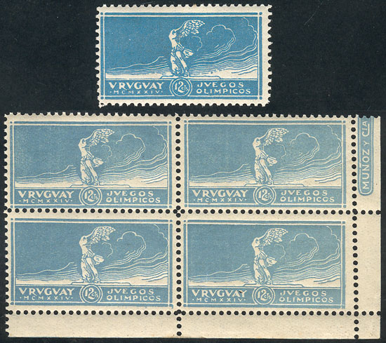 Lot 8 - TOPIC FOOTBALL/SOCCER Uruguay -  Guillermo Jalil - Philatino Auction # 2031 WORLDWIDE + ARGENTINA: General July auction