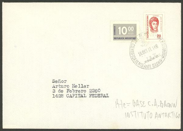 Lot 13 - argentine antarctica postal history -  Guillermo Jalil - Philatino Auction # 2032 ARGENTINA: