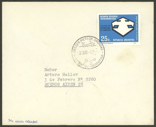 Lot 10 - argentine antarctica postal history -  Guillermo Jalil - Philatino Auction # 2032 ARGENTINA: