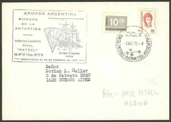 Lot 14 - argentine antarctica postal history -  Guillermo Jalil - Philatino Auction # 2032 ARGENTINA: