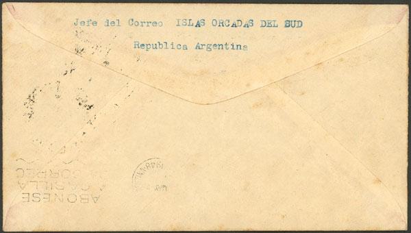 Lot 4 - antarctica postal history -  Guillermo Jalil - Philatino Auction # 2032 ARGENTINA: