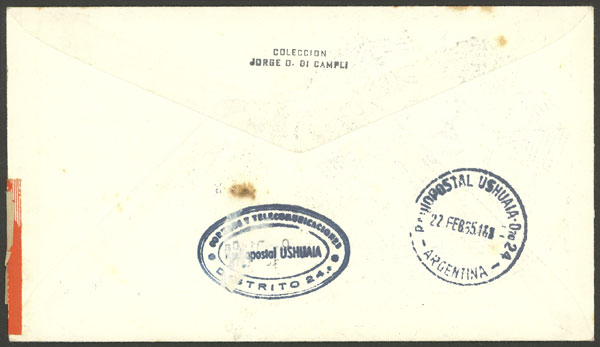 Lot 6 - antarctica postal history -  Guillermo Jalil - Philatino Auction # 2032 ARGENTINA: