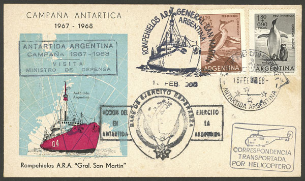 Lot 7 - antarctica postal history -  Guillermo Jalil - Philatino Auction # 2032 ARGENTINA:
