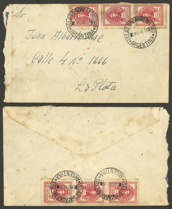 Lot 3 - antarctica postal history -  Guillermo Jalil - Philatino Auction # 2032 ARGENTINA: