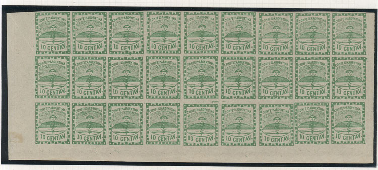 Lot 24 - Argentina confederation -  Guillermo Jalil - Philatino Auction # 2033 ARGENTINA: Special August sale!