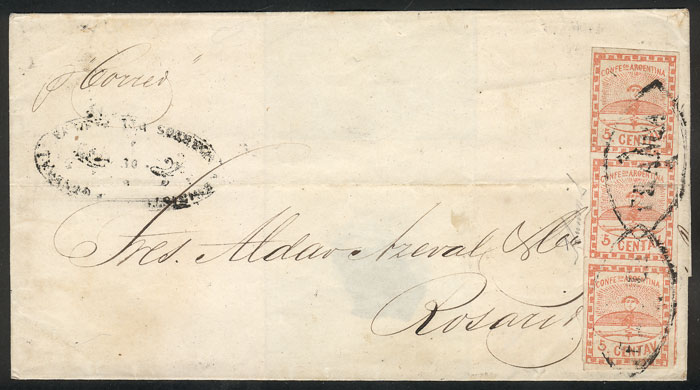 Lot 21 - Argentina confederation -  Guillermo Jalil - Philatino Auction # 2033 ARGENTINA: Special August sale!