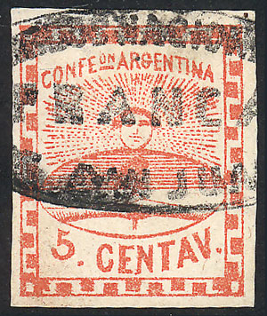 Lot 16 - Argentina confederation -  Guillermo Jalil - Philatino Auction # 2033 ARGENTINA: Special August sale!
