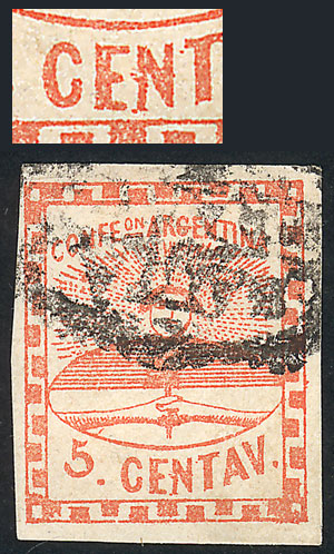 Lot 17 - Argentina confederation -  Guillermo Jalil - Philatino Auction # 2033 ARGENTINA: Special August sale!