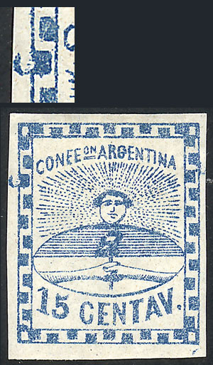 Lot 25 - Argentina confederation -  Guillermo Jalil - Philatino Auction # 2033 ARGENTINA: Special August sale!