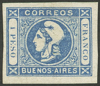 Lot 3 - Argentina cabecitas -  Guillermo Jalil - Philatino Auction # 2033 ARGENTINA: Special August sale!