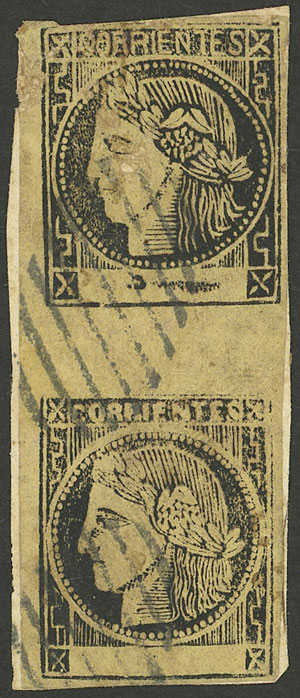 Lot 11 - Argentina corrientes -  Guillermo Jalil - Philatino Auction # 2033 ARGENTINA: Special August sale!