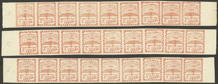 Lot 19 - Argentina confederation -  Guillermo Jalil - Philatino Auction # 2033 ARGENTINA: Special August sale!