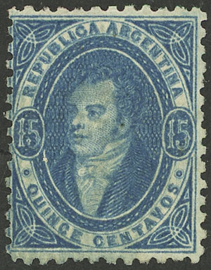 Lot 61 - Argentina rivadavias -  Guillermo Jalil - Philatino Auction # 2033 ARGENTINA: Special August sale!